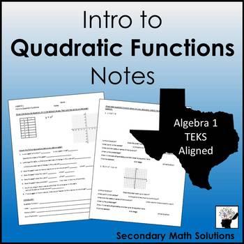 Quadratics Notes