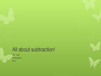Intro to Subtraction with number bonds