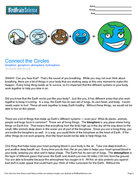 Intro to The Earth System, Connect the Circles - Engaging
