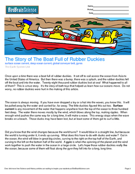 Intro to The Earth System, The Boat Full of Rubber Duckies