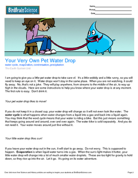 Intro to The Earth System, Your Very Own Pet Water Drop-En
