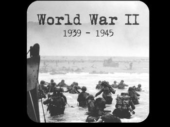 Intro to World War II/WWII/WW2 PowerPoint U.S. History/Soc