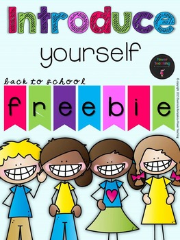 Introduce Yourself BACK-TO-SCHOOL Freebie