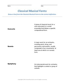 Written Assessment for teaching  Classical Music to Young