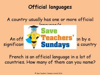 Introducing French Unit (6 lessons) - All lessons have AUD