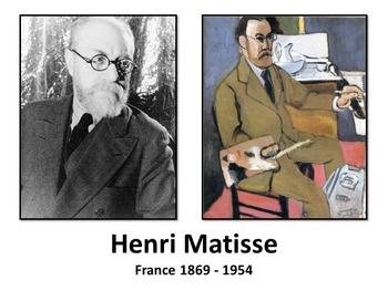 Introducing Matisse - Art History, Teaching Script, Activi