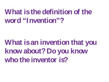 Introducing Inventions: Group Discussion Cards