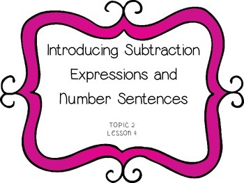 Subtraction Expressions & Number Sentences - First Grade e
