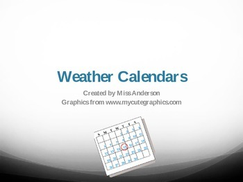 Introducing Weather Calendars