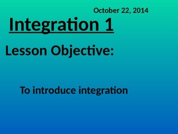 Introducing integration (Math Pre-cal)