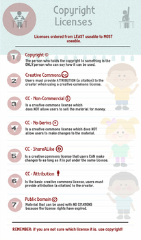 Introducing/reinforcing copyright concepts