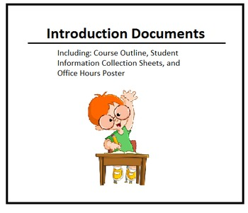 Course Intro Documents (Syllabi Template and Student Info