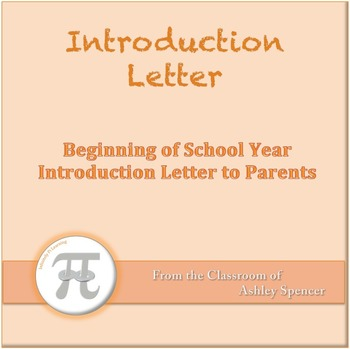 Introduction Letter to Parents