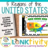 5 Regions of the United States {Digital Learning Guide and