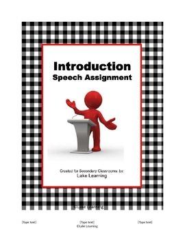 Introduction Speech Assignment