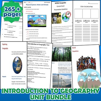 Introduction to Geography *Unit Bundle* Intro & Tools of G
