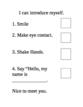 Introduction Worksheet