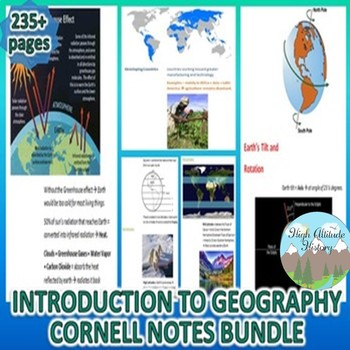 Introduction and Tools of Geography Cornell Notes *Bundle*