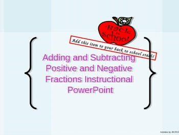 Introduction to Adding and Subtracting Positive and Negati