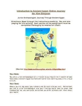 Introduction to Ancient Egypt WebQuest