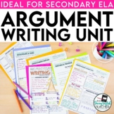 Argument Writing: a CCSS aligned mini-unit for secondary English