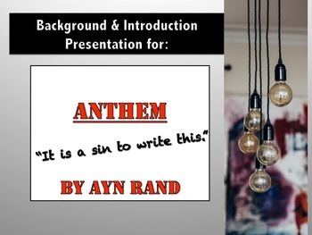 Anthem by Ayn Rand Introduction & Question Sheet (w/ answers)