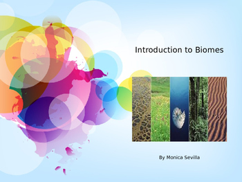 Introduction to Biomes Powerpoint