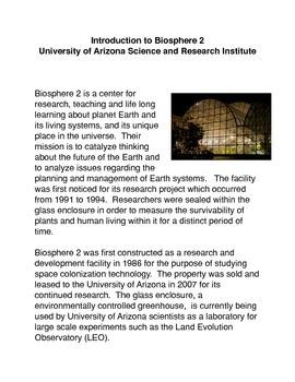 Introduction to Biosphere 2: University of Arizona Researc