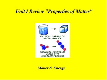 "Introduction to Chemistry ActivInspire Unit I Review ""Prop"