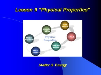 "Introduction to Chemistry Lesson II PowerPoint ""Physical P"
