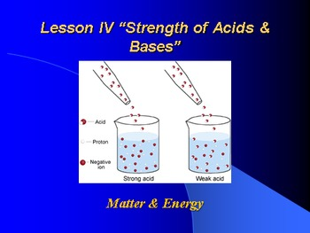 "Introduction to Chemistry Lesson IV PowerPoint ""Strength o"
