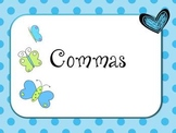 Introduction to Commas PowerPoint for 1st or 2nd Grade