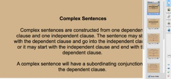 Introduction to Complex Sentences