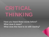 Introduction to Critical Thinking PowerPoint- first days o