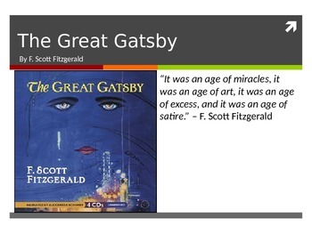 Introduction to F. Scott Fitzgerald, The Great Gatsby, and