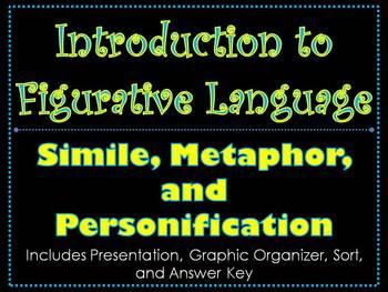 Introduction to Figurative Language - Simile, Metaphor, an