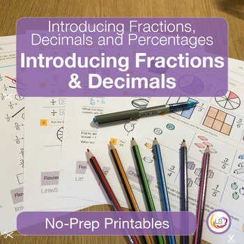 Fractions, Decimals and Percentages Introduction Worksheet