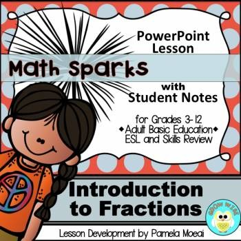 Fractions: Introduction to Fractions PowerPoint and Studen