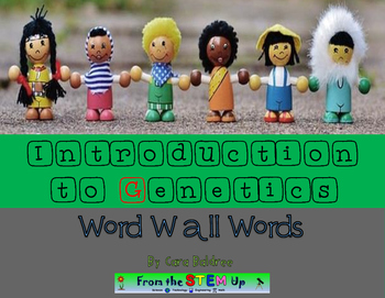 Introduction to Genetics Word Wall Words