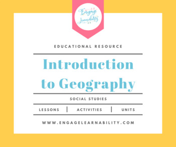 Introduction to Geography / Think like a Geographer Lesson Plan