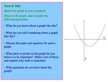 Introduction to Graphing Quadratcis Activity