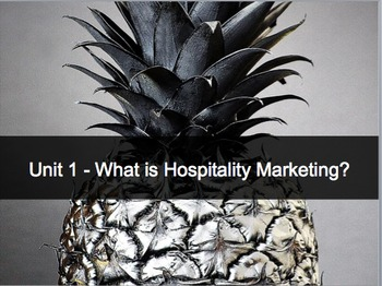 Introduction to Hospitality Unit 1 - What is Hospitality M