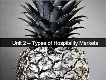 Introduction to Hospitality Unit 2 - Types of Hospitality Markets