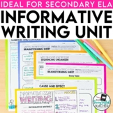 Informational Writing: a CCSS aligned mini-unit for second