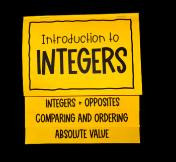 Introduction to Integers (Foldable)