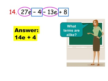 Introduction to Like Terms and Distributive Property (Inst
