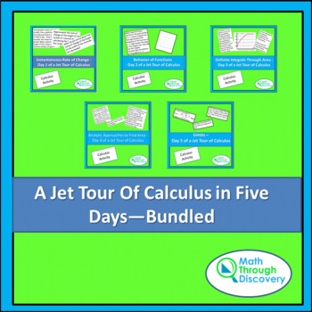 Calculus:  Jet Tour of Calculus - Five Days of Lessons - Bundled