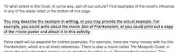 Introduction to Mary Shelley's Frankenstein Culture Activity