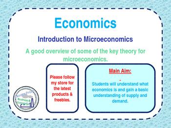 Introduction to Microeconomics - Economics - PPT & Tasks -