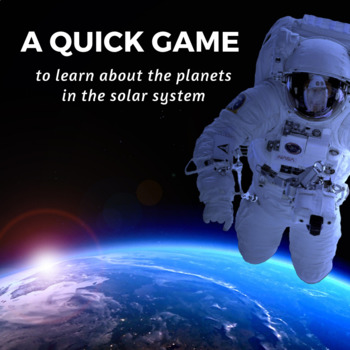Solar System Game; Learning about Planets, the sun, and ou